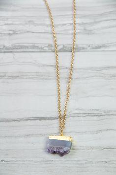 Geode Pendant Necklace