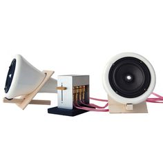 Ceramic Speakers Music Speakers, Laptop Speakers, Gadgets And Gizmos, Tech Gadgets, Audiophile Speakers, Speaker Amplifier, Speaker System, Sounds Great, Baltic Birch