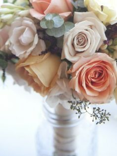 Vintage wedding table boquet