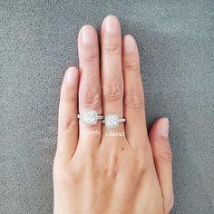 1 Carat or 2 Carat Cushion Cut Halo Ring in Pave Band, Promise ring for her, Alternative Ring, Man Made Diamond Simulants, Sterling Silver #SilverPromiseRing #RingUnder100 #HaloEngagementRing #BridalRing #PromiseRingForHer #CushionCutRing #WeddingRing #ManMadeDiamond #FairyParadise #1CaratPromiseRing