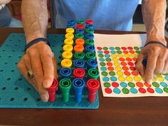 SNF Speech Therapy for Cognition using a Peg Board. FREE Download!