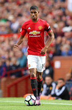 Marcus Rashford of Manchester United in action during the Premier League match between Manchester United and Stoke City at Old Trafford on October 2, 2016 in Manchester, England.