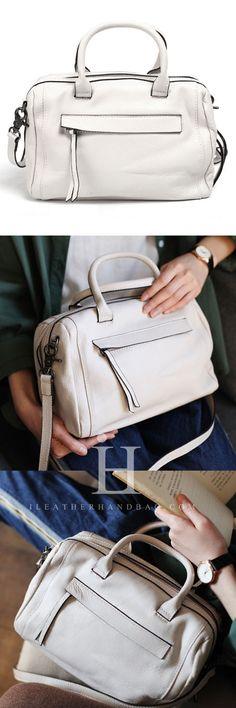 Genuine Leather Handbag Boston Bag Shoulder Bag Crossbody Bag Purse Clutch For Women