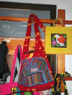 Mola Purses made by  Kuna Jala Indians  Hand stitched by PanamaArt, $50.00