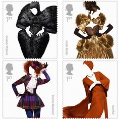 The Royal Mail's new fashion stamps, including McQueen and Vivienne Westwood