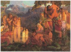 Alma baptizes in the Waters of Mormon * Mosiah 18