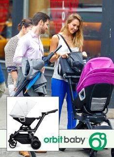 Jessica Alba is colorful in Soho - ZukaBaby is running Orbit's free color pack promo right now! Come check out the Orbit Baby Stroller!