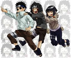 Tags: Anime, NARUTO, Hyuuga Hinata, Inuzuka Kiba, Aburame Shino