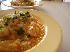 As Minhas Receitas: Arroz de Tomate e Pimento com Pescada