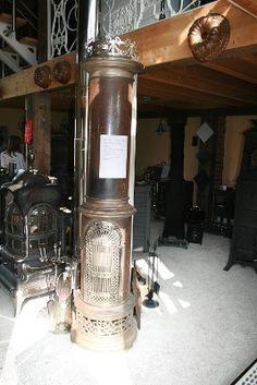 Antiker Dänischer Säulenofen von Brandt & Co, Odense um 1900, nicht restauriert, Nur Dekoteil