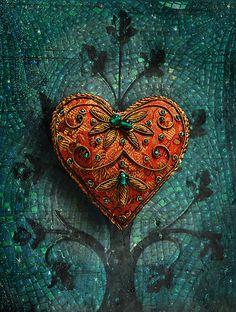 'Mosaic Valentine' by Elizabeth Burton. Precioso!