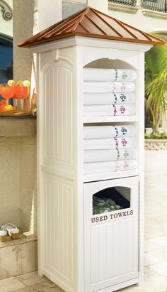 This Commercial-quality Towel Valet is the same seen at resorts and private clubs, and now your pool. #PoolLandscape