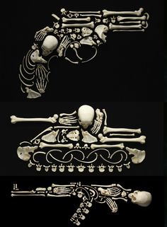 Amazing 'Stop the Violence' campaign by Francois Robert. Those are human bones.