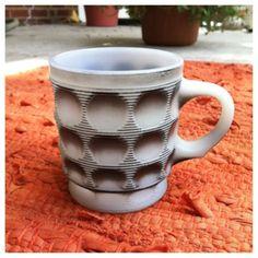 VTG 1960s Fire King Camelot Milk Glass Coffee/Tea Mug - Charcoal Grey/Black - RARE. $15.00, via Etsy.