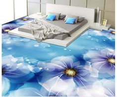 3D floors are painted with epoxy composition - decor indoor