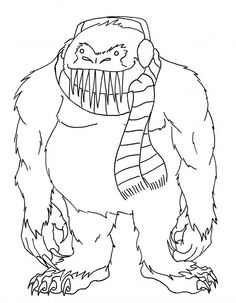the Yeti - shorten the teeth and you have the bumble from Rudolph - now all you need are the other characters