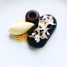 Black coconut/ Caribbean rose apple #gastronomy #gastroart #chefsofinstagram…
