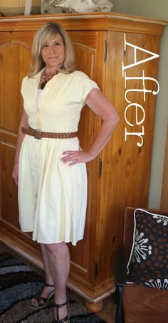 DIY Shirt Dress Tutorial - Renegade Seamstress.  This lady has found the ugliest clothes and made them awesome.