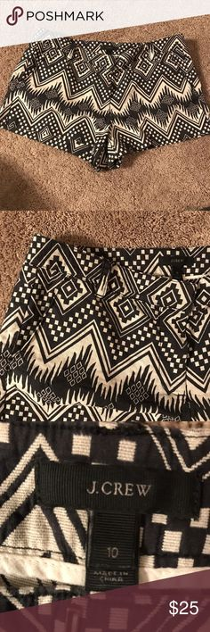 J. Crew Aztec Tribal Embroidered Print Shorts Worn once but no signs of wear.  Don't fit me anymore.  I wish they did because I LOVE THEM!  White and gray/blue.  Sorry, no trades. Reasonable offers welcome. Feel free to ask any questions. J. Crew Shorts