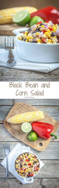 You'll love this quick and easy Black Bean and Corn Salad! It's low in calories and fat free,a perfect summer side dish to complement grilled foods | teabiscuit.org