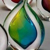 Teardrop Glass Paperweight