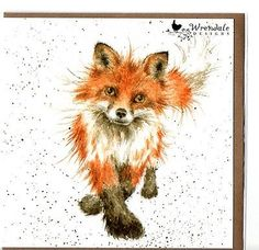 Wrendale Designs Country Set Greeting Card NEW The Foxtrot Fox