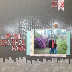 #papercraft #scrapbook #layout      First Picnic by wahine12 at Studio Calico