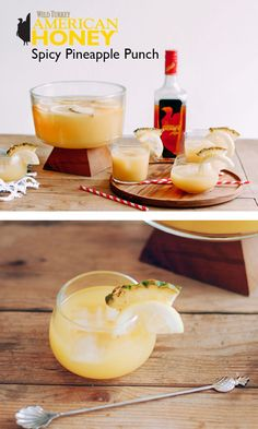 Spicy Pineapple Punch - one of my fave bourbon drinks!