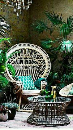 Une véritable jungle dans ce salon d'hiver