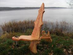 Bildergalerie Stühle - die wikinger Holzkunst, Schnitzerei aus Angeln Steckstühle Throne von Reiner van Ophuysen Webseite!