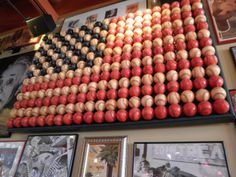 american flag made of baseballs - I am making this for my sons birthday! 200+ baseballs....gonna get expensive!