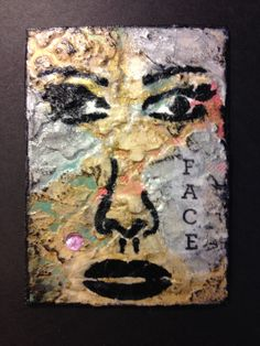 I made this ATC card. A fave for fun! By Ilene Mcinnes