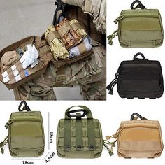 Tactical 1000D Molle Military EDC Utility Tool Bag Medical First Aid Pouch Case