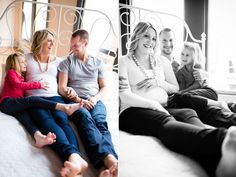 happy family, seattle maternity photos by molly magee