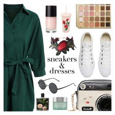 """""""Sporty Chic: Sneakers and Dresses"""" by dora04 ❤ liked on Polyvore featuring Converse, ban.do, Nest Fragrances and Kiehl's"""