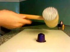 ▶ Ohrringe aus Nespresso-Kapseln basteln - YouTube