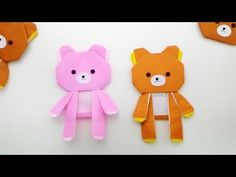 Origami Rilakkuma doll /พับกระดาษ ตุ๊กตา หมีรีแลคคุมะ น่าร๊าก リラックマ - YouTube