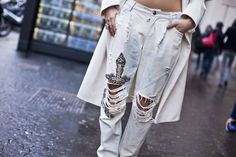 In The Moment  #Bleached #Jeans