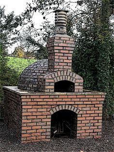 How to build a pizza oven - Pinkbird Build A Pizza Oven, Pizza Oven Outdoor, Wood Fired Oven, Wood Fired Pizza, Oven Diy, Earth Bag Homes, Outdoor Fireplace Designs, Bread Oven, Four A Pizza