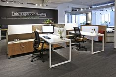 HON NeoCon 2014 Showroom Suite #1130, Merchandise Mart, Chicago. Showcasing the very best in office furniture design. #NeoCon14 Voi Desking, Accelerate Workstations, Contain Storage