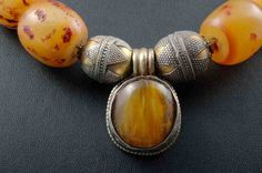 Amber and brass