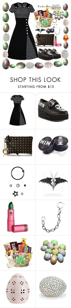 """""""Easter Dress to Impress"""" by toxic-crash ❤ liked on Polyvore featuring Iron Fist, Lipstick Queen and Pottery Barn"""