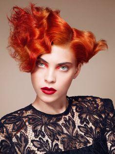 Rote Damenfrisuren   Friseur.com