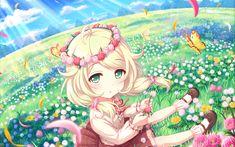 Anime The Idolmaster: Cinderella Girls Starlight Stage Kozue Yusa Wallpaper Good Anime Series, Star Character, Idolmaster Cinderella, Anime Child, Love Live, Darling In The Franxx, Illustrations, Girls Image, Wallpaper Backgrounds