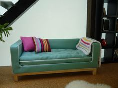 Dolls House Modern Sofa 112 by AlicesMiniatures on Etsy