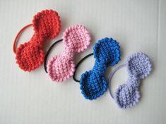 Handlaga hårsløyfer med strikk (prisen er pr. stk.) Hug, Pink, Cuddle