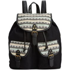 Rampage Fold Over Flap Backpack (185 HRK) ❤ liked on Polyvore featuring bags, backpacks, accessories, sac, aztec multi, aztec print bag, knapsack bag, buckle backpack, backpack bags and aztec print backpack