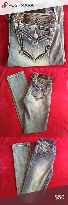 ❤️New Miss Me Denim Jeans❤️ New, No price tag. Signature/Straight, Inseam 31. Style# JE8444TR. Miss Me Jeans Straight Leg