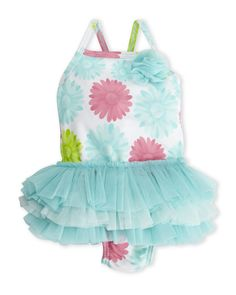 7afb47f2ff90 Little Me (Infant Girls) Daisy Tutu One-Piece Swimsuit