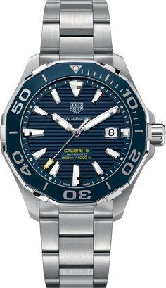 AQUARACER 300 M Calibre 5 Ceramic Bezel 43 MM Blue sunray Steel bracelet | TAG Heuer